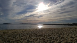 Afternoon sun on Mayo Beach